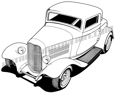 34 ford roadster vector art picsbud Ford 1934 English ford three window coupe hot rod clip art buy two 400x323 34 ford roadster vector