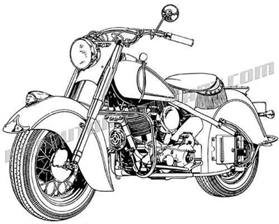 indian chief motorcycle clipart
